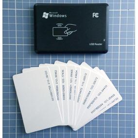 Leitor Rfid 125 Khz 4100 Usb Plug And Play + 20 Cartões