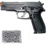 Pistola Pressão Sig Sauer P226 4,5mm Com 250 Esferas De Aço