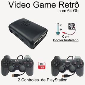 Video Game Retro 64gb C/cooler 4 Controles Multimídia Brinde
