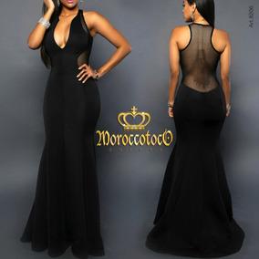Vestidos de fiesta corte sirena negro