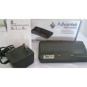 Switch Advantek 8 Puertos 10/100 Mbps De Cajita Como New.