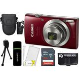 Canon Powershot Elph 180 20mp 8x Zoom Digital Camara Rojo