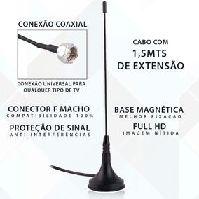Antena Tv Digital Interna C/ Cabo 1,5m Uhf Vhf Sintonizador