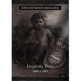 Rco Álbum De Moedas Brasileiras - Império Réis 1868-1889