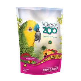Ração Extrusada Frutas E Legumes Para Papagaios Megazoo 600g