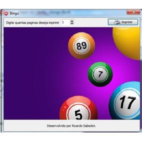 Programa Sistema Gerador De Cartelas De Bingo
