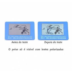 c05b137236060 Cartão Teste De Lentes Polarizadas Sol - Óculos no Mercado Livre Brasil