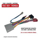 Chicote Ligação Som Com Antena Civic 07 A 11 Crv 09 A 11