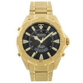 3c825688bb099 Relogio Technos Skydiver Preto E Dourado - Relógios no Mercado Livre ...