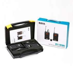 Microfone Sem Fio Boya Wm6 Lapela By-wm6 Canon Nikon Sony