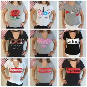 8734c8e5db Blusa Choker Camiseta Camisetas Blusas - Camisetas e Blusas no ...
