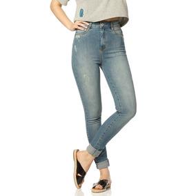 Calça Fem Skinny Cintura Alta Estonada Sobreposto-sp2310