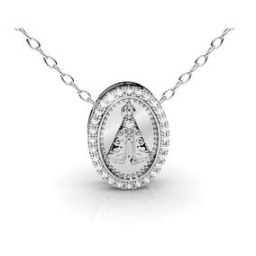 2f7b6ae2076b8 Medalha Nossa Senhora Em Ouro E Diamantes - Joias e Bijuterias no ...