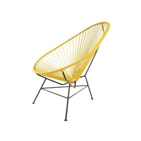 Amarillo Mostaza - Pao Silla Para Exteriores De Plástico