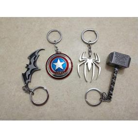 Chaveiros Da Marvel E Dc Kit De 3 Unid. À Sua Escolha!