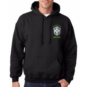 Blusa De Frio Do Brasil Selecao - Moletom Masculinas Preto no ... d57eb37c47725