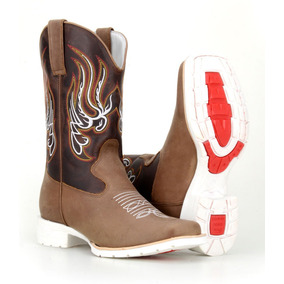 Bota Texana Country Masculina Solado Branco Couro 4country 8bb3fa58ee3