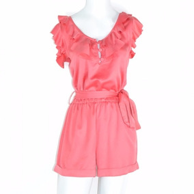 Zkuattra Jumpsuit Corto Coral S Msrp $ 1,200