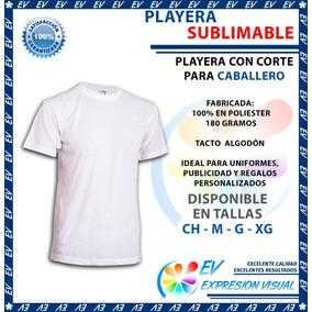Playera Sublimacion Tacto Algodón Colormake Caballero 12 Pzs
