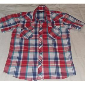 328f75c0852 Camisa De Jean Wrangler Hombre - Camisas Manga Corta de Hombre en Bs ...