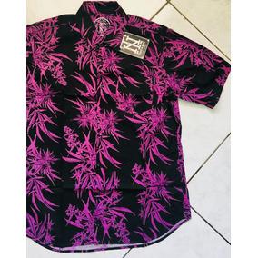 Camisa De Botão Thug Nine Original Weed Marijuana Maconha Fr