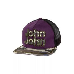 Boné John John Camuflado E Roxo Telinha-100% Original Etique f6bf7b9e2dd