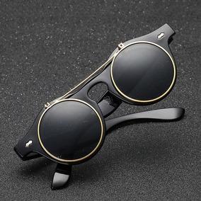 f99da485d2128 Óculos De Sol Vintage Retrô Redondo Unissex Oval Metal