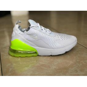 Tenis Promoción Nike Air 270 Blanco Válvula Fosforescente 95c8bb17bb491