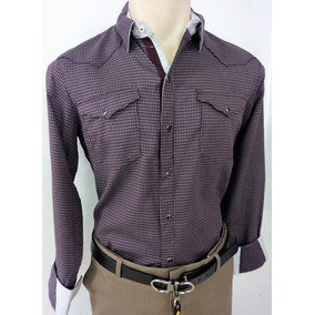 Camisa Cactus Color Vino Para Hombre