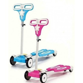 Monopatin Tipo Tijera Autoimpulsable Azul Y Rosado