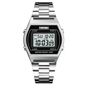 Relógio Skmei 1328 Masculino Digital Pulseira Prata Fréte Gr