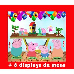 Kit Festa Peppa Pig Displays E Totens