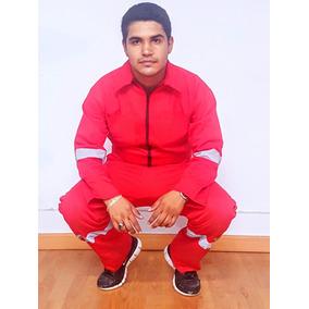 Overol Gabardina Ligera Pol-algodón Rojo