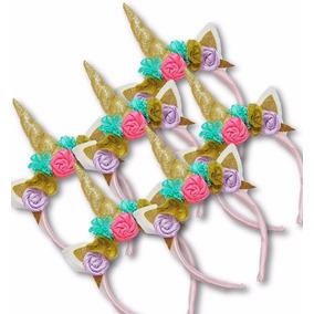 6 Diadema Unicornio Dama Flores Adulto Envio Gratis