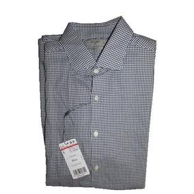 Camisa Hombre Mango Man Manga Larga Azul Blanca Cuadrit 92dd9848673