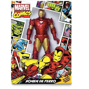 Boneco Homem De Ferro Comics Marvel - Mimo 45 Cm Articulado