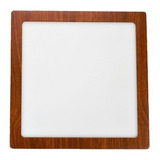 Panel Led 18w Aplicar Cuadrado Simil Madera Calido Frio Casa