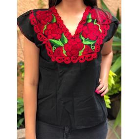 Blusas Dama Artesanales Mexicanas Bordadas A Mano De Algodón