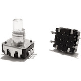 Potenciômetro Encoder Rotativo Smd 5 Terminais Chave E Garra