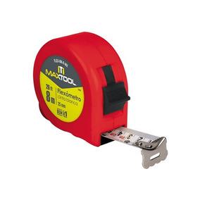 Flexometro 8 Metros Rojo Maxtool 301618 Ferre Fast