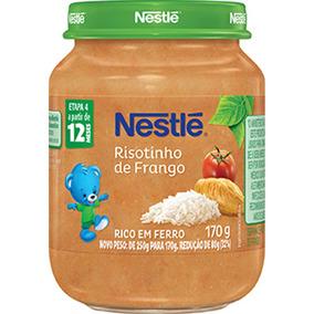 Papinha Nestlé Risotinho De Frango 170g Caixa Com 10 Potes