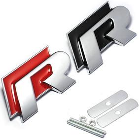 Emblema R Vw Grade Metal Gol Jetta Golf Polo Fox Tuni R-line