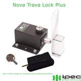 Trava Portão Eletromagnética Lock Plus Temporizador +suporte