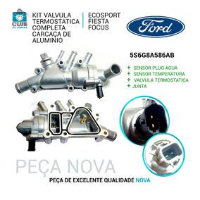 Kit Válvula Termostática Carcaça Alumínio Ecosport Fiesta