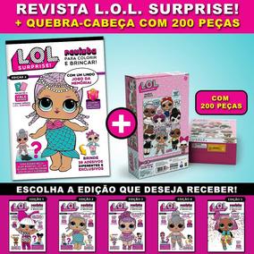 Revista Lol Surprise + Lindo Quebra-cabeça Com 200 Peças