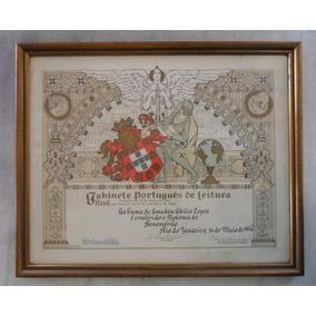 Documento Antigo Portugues Real Gabinete De Leitura - Porto