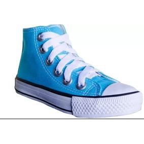 Tênis Converse Infantil Criança Azul Turquesa