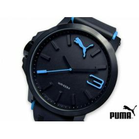 Reloj Puma Ultrasize Negro Con Azul Nuevo Original