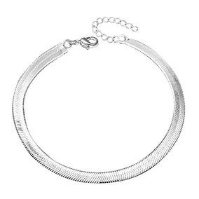 a25cba2ab166 Jmqjewelry Pulsera De Tobillo De Cadena De Plata Para Mujer