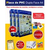 Crachás Pvc Imprimivel Kit Para 500 Crachás